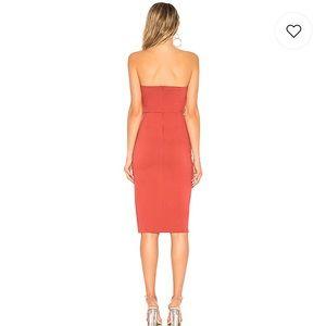 Revolve Dresses - Zarah strapless high slit midi dress